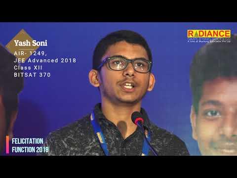 Yash Soni, AIR- 1249, JEE Advanced, 2018