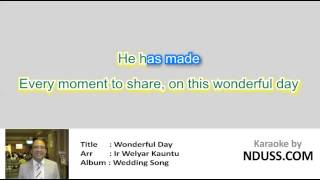 [Karaoke] Lagu Pernikahan - Wonderful Day