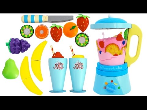 Toy Blender Playset Learn Fruits Vegetables With Wooden