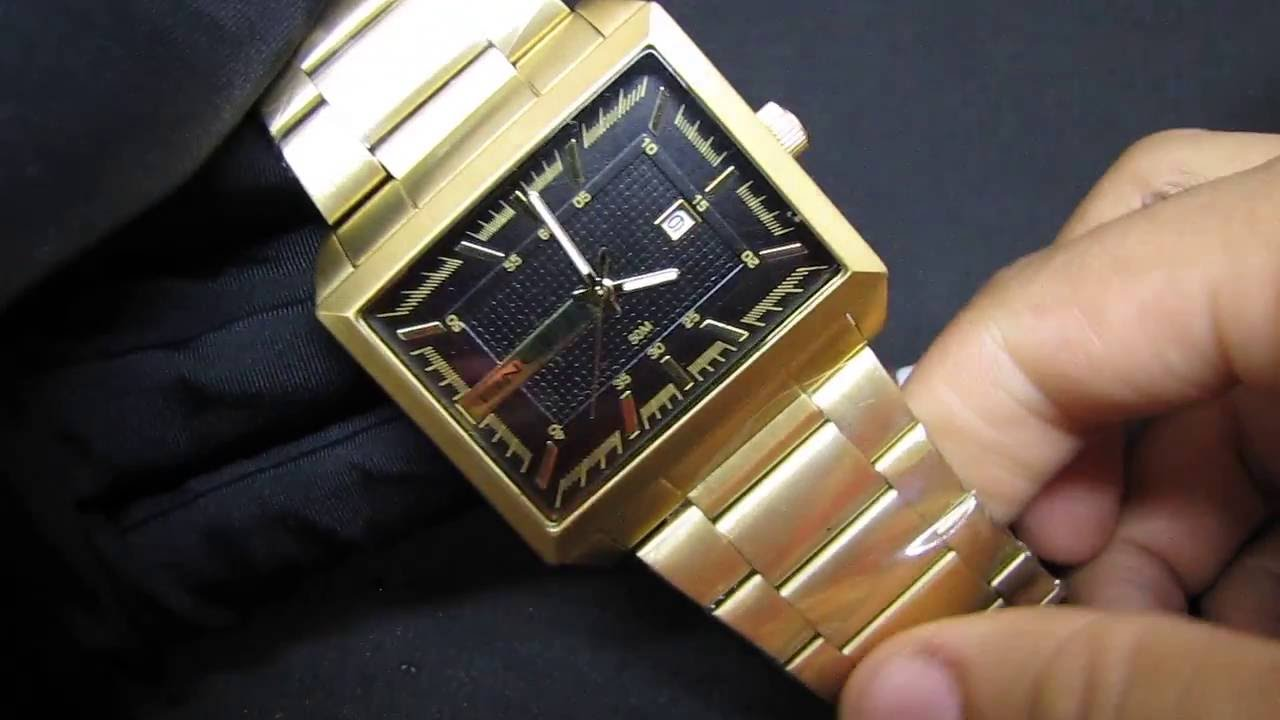 1bc78aa24093a Relógio Dourado Masculino Lince Mqg4267s Quadrado Grande - Impressões  Gerais - YouTube