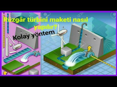 mini rüzgâr santrali yapımı #rüzgâr türbini maketi #rüzgârgülü yap #how to make wind turbine at home