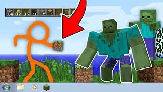 STICKMAN VS APOCALIPSE DE 1000 ZUMBIS NO MINECRAFT!!