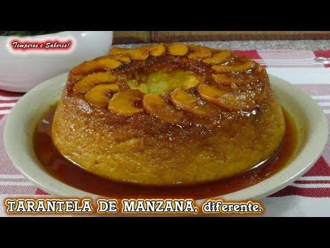 TARANTELA DE MANZANA, SIN HORNO, pudin fácil y delicioso