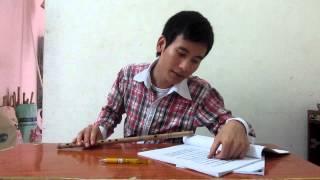Hướng dẫn thổi sáo: Con kênh xanh xanh 1- sáo trúc Cao Trí Minh