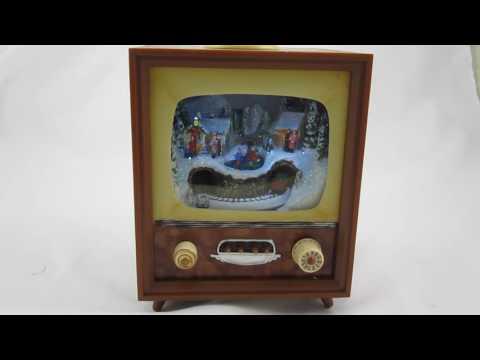Retro TV Christmas Music Box by Roman
