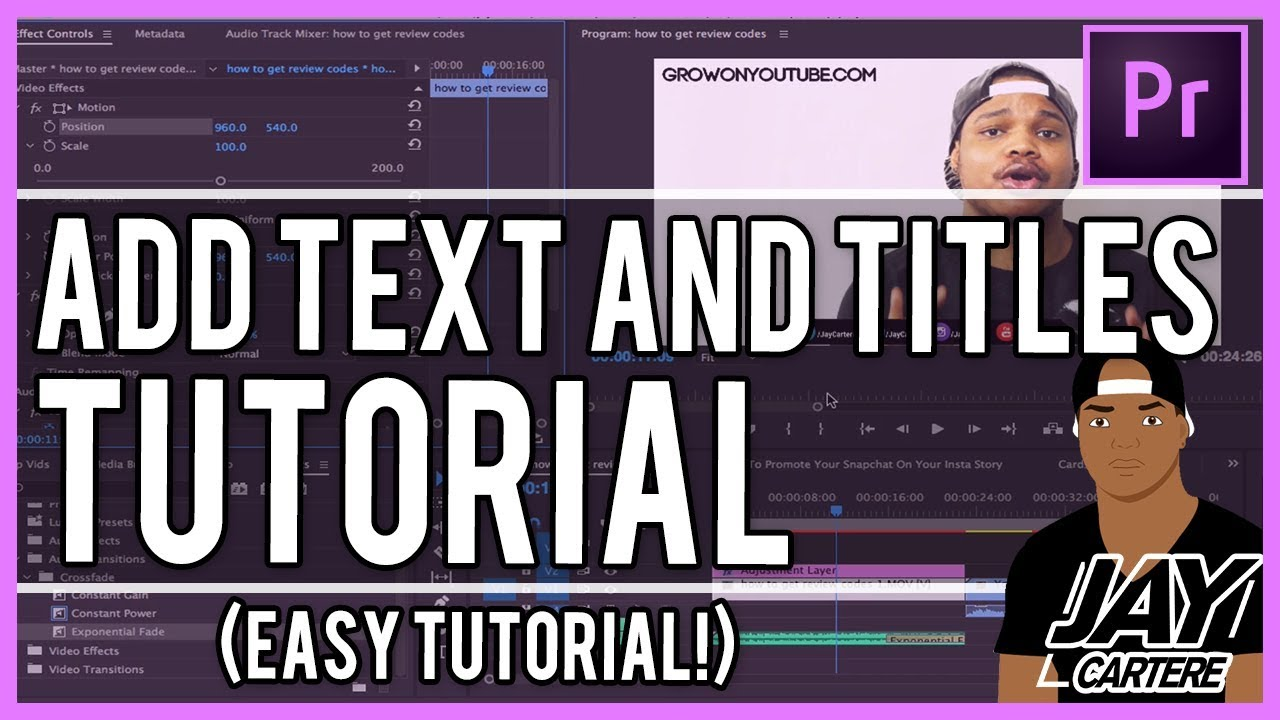 How To Add Text In Adobe Premiere Pro (Step by Step) 2019