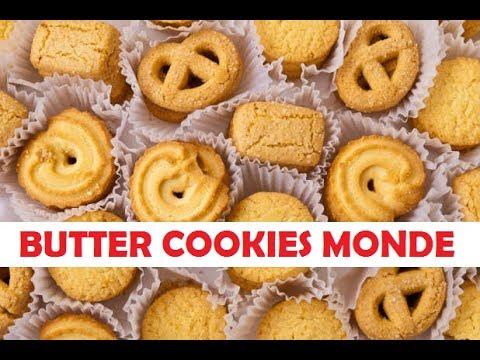 Cara Membuat Butter Cookies Ala Monde Youtube