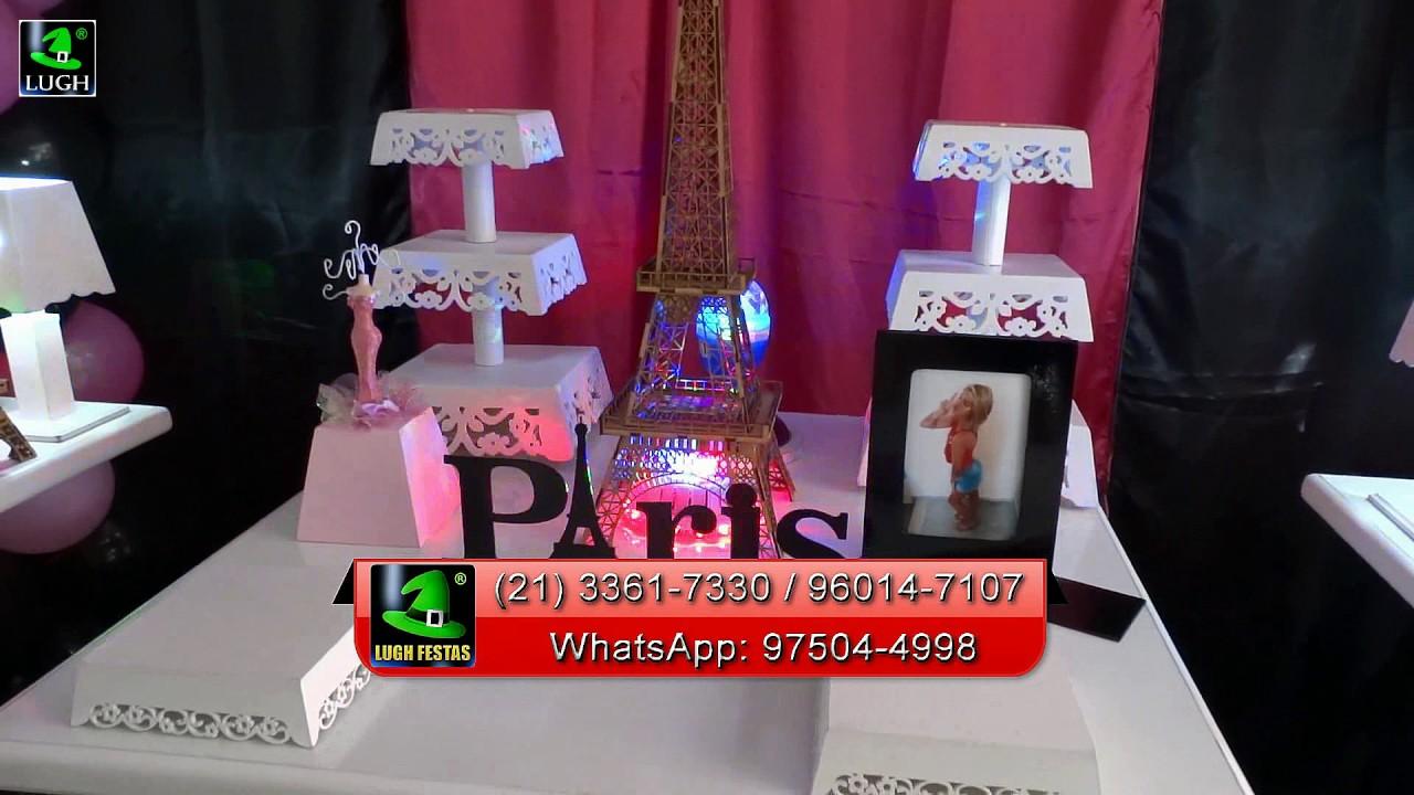 Decoraç u00e3o de festa Paris para aniversário feminino YouTube -> Decoracao De Oncinha Para Festa