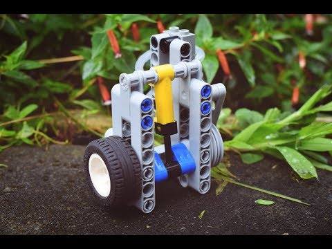 How to Make a Small High RPM 1 Cylinder Lego Pneumatic Engine - 3000 RPM! - Smallest in the World!?