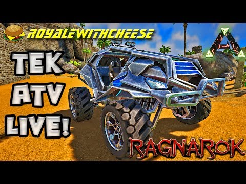 First Look Tek ATV, Ragnarok Live! Taming and Building! Push to 3800!