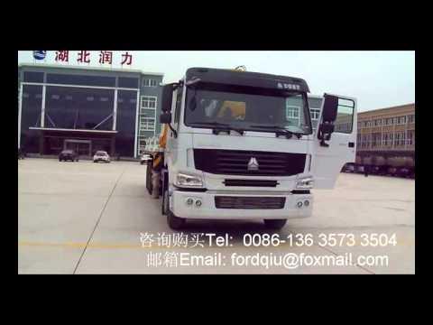 howo truck mounted XCMG knuckle crane 5T wechat/whatsapp/viber: 86-13635733504