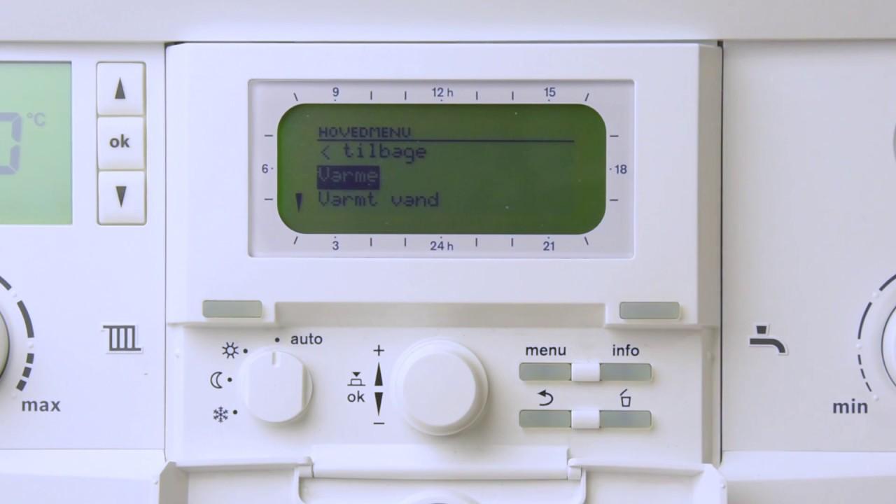 Sådan indstiller du Bosch FW120 klimastyring