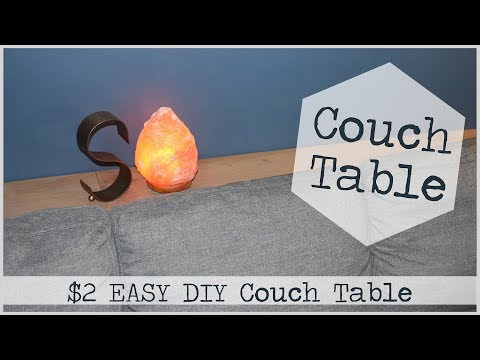 Easy $2 Couch Table DIY