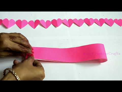 DIY Paper Heart Garland | Easy DIY Crafts For Home Decoration | Valentines Day Decor Ideas