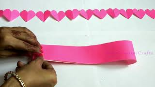 Gambar cover DIY Paper Heart Garland   Easy DIY Crafts For Home Decoration   Valentines Day Decor Ideas