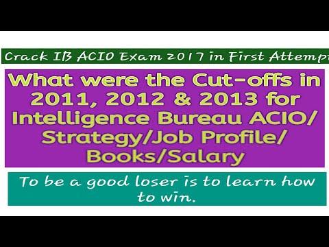 IB ACIO 2017/Cut-offs/Job Profile/Books/Salary