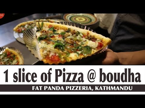 1 Slice Of ANY Pizza Is SO BIG And Delicious At Fat Panda Pizzeria - Food Nepal