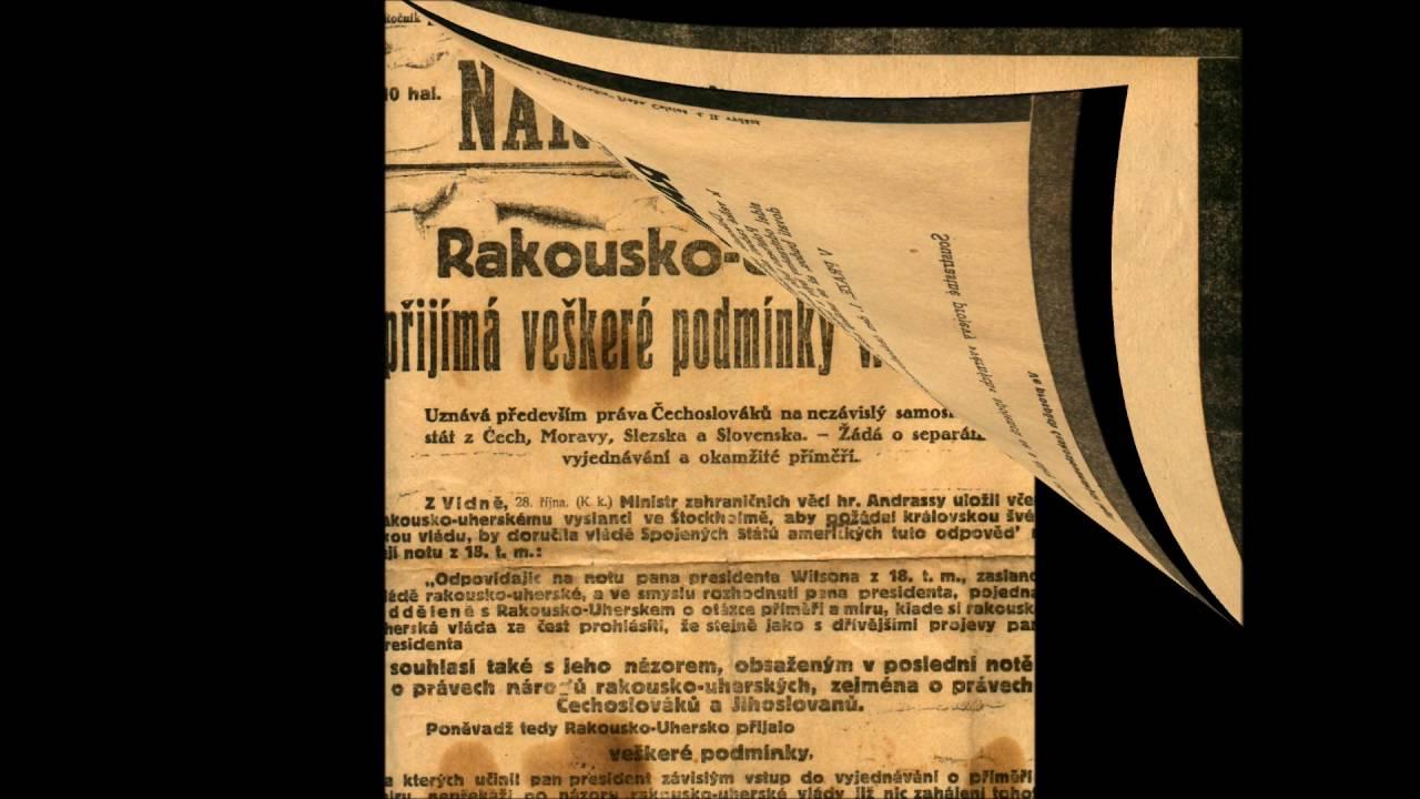 Video Přečtěte si o historii českých zemí a vzniku Československa