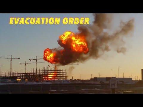Evacuation Order Following Explosion & Fire In Minot, North Dakota