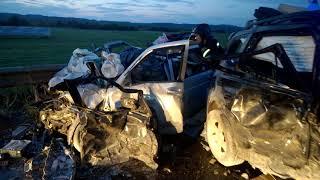 19 09 2017 Последствия ДТП на 4 км Объездной дороги города Воткинска Удмуртия