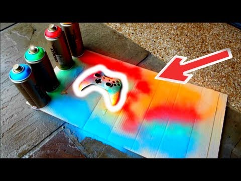 SPRAY PAINTING A XBOX ONE CONTROLLER!(multicoloured)