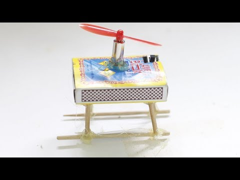 Diy How To Make Helicopter Matchbox Helicopter Toy