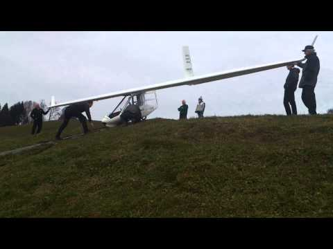 Archaeopteryx, Startvorbereitung, Start, Flug.