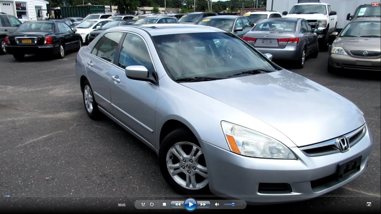 2006 Honda Accord Sedan >> 2006 Honda Accord Ex L 2 4 Startup Engine Full Tour Overview