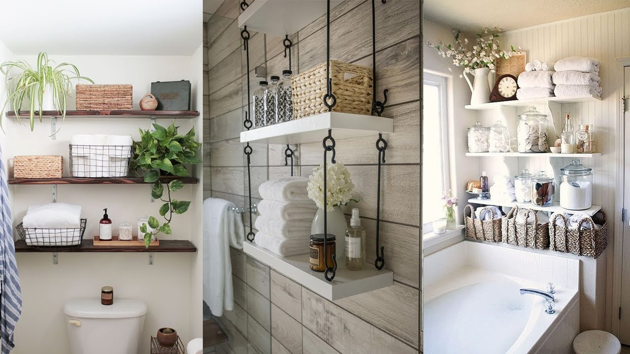 26 Bathroom Wall Storage Ideas Youtube