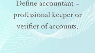 Define accountant