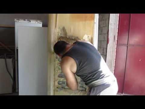 Холодильник STINOL с верхней морозильной камерой.утечка. меняем испаритель