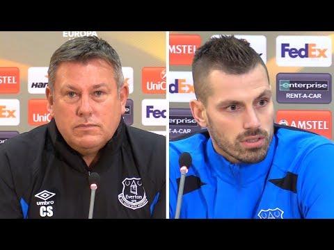 Craig Shakespeare & Morgan Schneiderlin Pre-Match Press Conference - Apollon Limassol v Everton