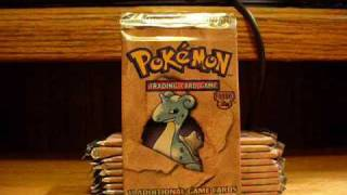 Opening 10 Pokemon Card Fossil Booster Packs
