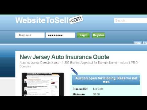 Preview NJ Auto Insurance Quote Website For Sale