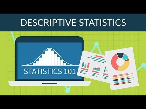 Statistics 101 -  Descriptive Statistics