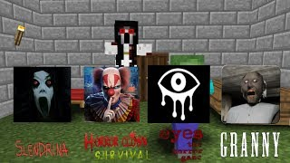 Monster School Granny,Slendrina,Clown survival,Eyes horror game Minecraft Animation