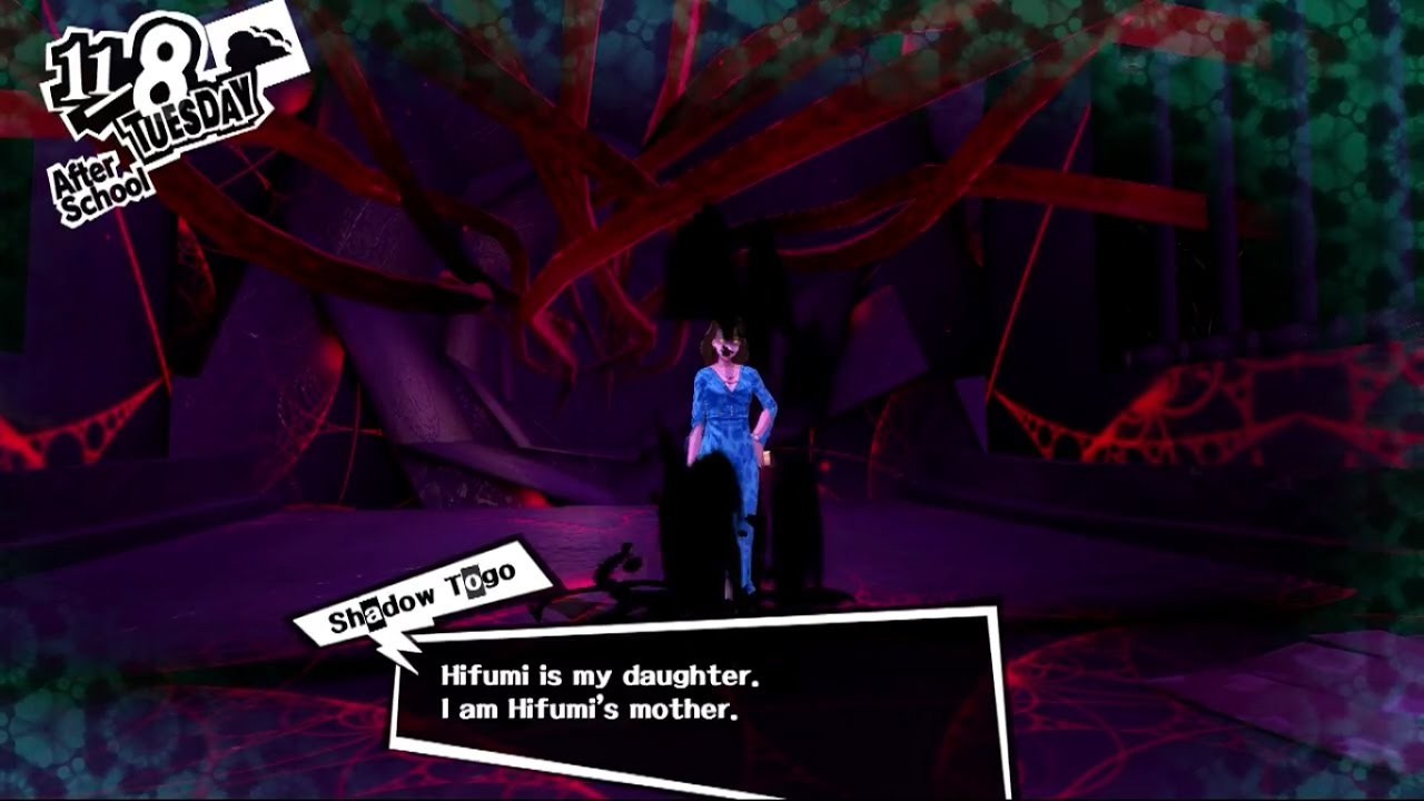 Persona 5 Mementos Upstaging The Stage Mother Shadow Togo Youtube