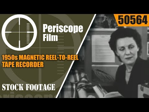 1950s MAGNETIC REEL-TO-REEL TAPE RECORDER INSTRUCTIONAL FILM 50564