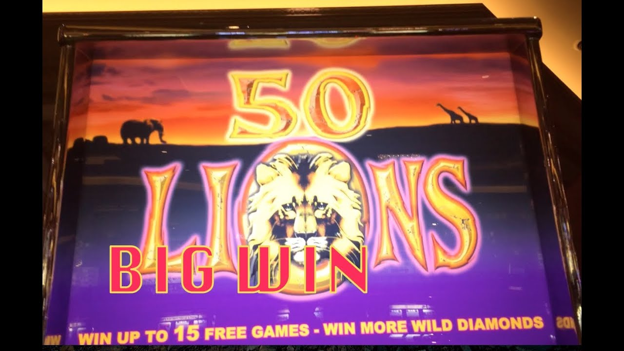 50 lions slot machine 2 bonuses and a big win at the end youtube. Black Bedroom Furniture Sets. Home Design Ideas