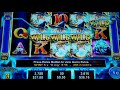 Ice Wizard Slot Machine Bonus + Retrigger - 15 Free Games with Stacked Wilds + Multipliers - BIG WIN