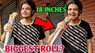 BIGGEST ROLL?! | Special 18 Inch Roll, Kolkata | Neon Man 360 Food Vlog |