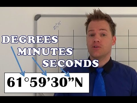 Mapwork coordinates degrees, minutes and seconds