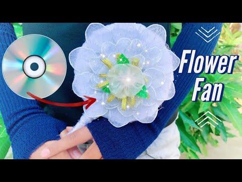 Download Creative Ideas Flower Fan Nylon From CD || Ide Kreatif Kipas Bunga Stoking Dari CD