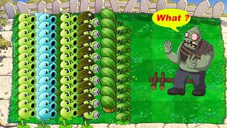 Plants vs Zombies - All Pea PvZ, Cattail, Melon Pult vs Gargantuar vs Zombies