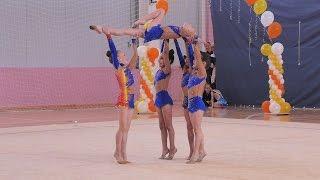 """Художественная гимнастика ВЕСЕННИЕ КРАСКИ """"Капельки"""" групповые упражнения"""