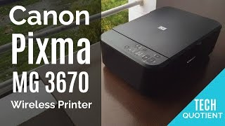 Canon Pixma MG3670 Wireless All in One Printer Overview with Sample Print