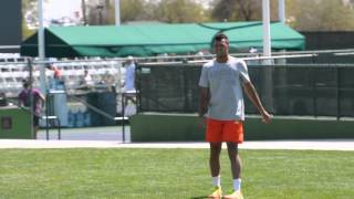 Jo-Wilfried Tsonga Playing Footie at the BNP Paribas Open