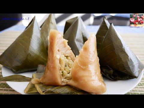 Bánh Ít - Cách làm Bánh Ít nhân đậu xanh - Cách gói Bánh Ít nhân ngọt by Vanh Khuyen