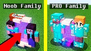 Noob vs Pro : FAMILY PORTAL in Minecraft Battle animation