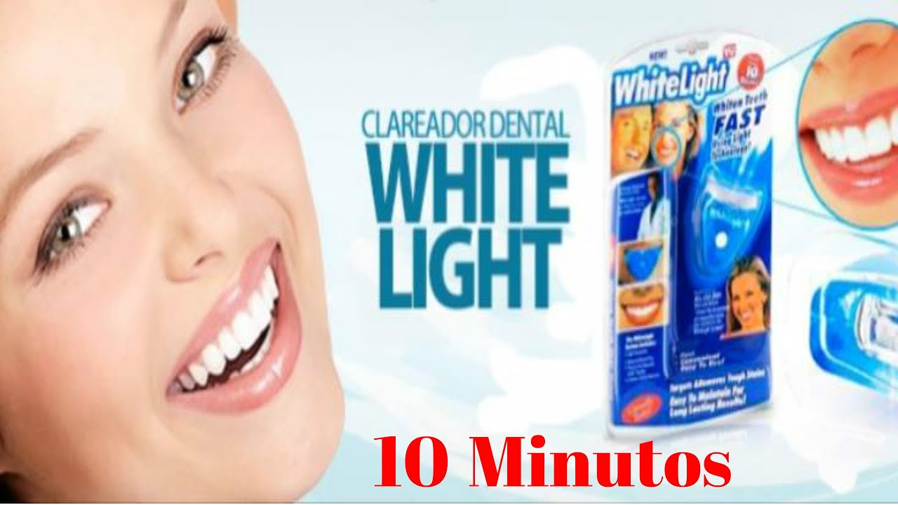 Kit Clareador Dental White Light Acompanha Moldeira E Gel